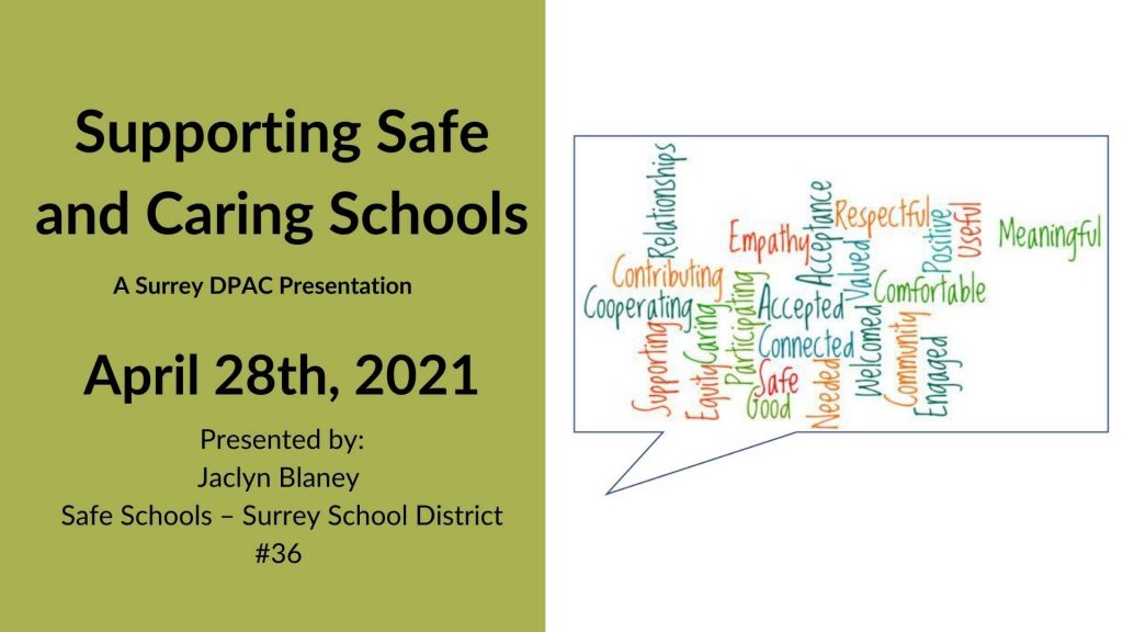 Supporting safe schools